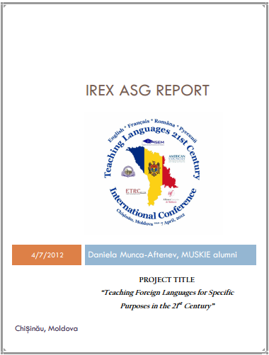 IREX ASG REPORT